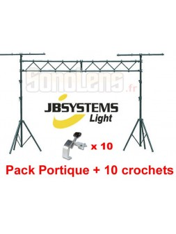 Jbsystems - Pack Portique sono LB30 + 10 crochets