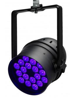 irLED64-18x12SIXsb - PAR64 18LEDs 12W RGBWA+UV + télécIR-noir