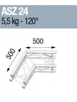 ASD - ANGLE ALU 290 CARREE 2 DEPARTS 120° - ASZ24M