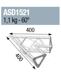 ASD - ANGLE 2D 60° SECTION 150 ALU TRIANGULAIRE - ASD1521