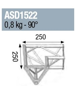 ASD - ANGLE 2D 90° SECTION 150 ALU TRIANGULAIRE - ASD1522