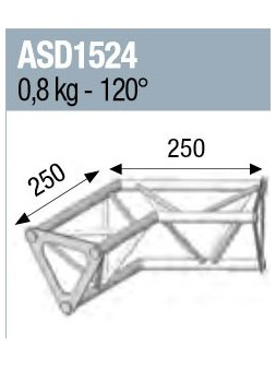 ASD - ANGLE 2D 120° SECTION 150 ALU TRIANGULAIRE - ASD1524