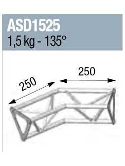 ASD - ANGLE 2D 135° SECTION 150 ALU TRIANGULAIRE - ASD1525