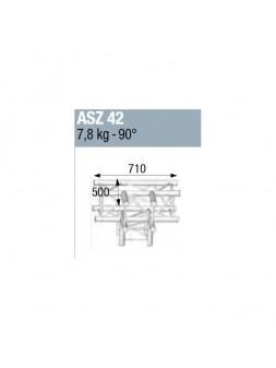 ASD - ANGLE ALU 290 CARREE 4 DEPARTS HORIZONTAL/PIED - ASZ42M