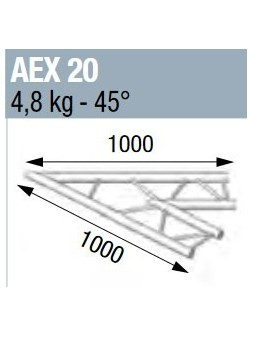 ASD - ANGLE 45° POUR ECHELLE PLATE 290 - AEX20