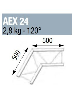 ASD - ANGLE 120° POUR ECHELLE PLATE 290 - AEX24