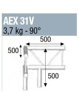 ASD - ANGLE 90° 3 DEPARTS POUR ECHELLE VERTICALE 290 - AEX31V
