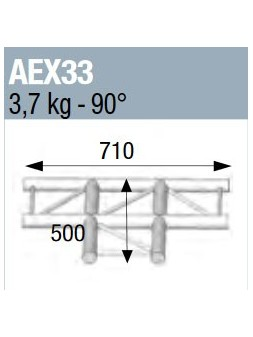 ASD - ANGLE 90° 3 DEPARTS A PLAT POUR ECHELLE PLATE 290 - AEX33