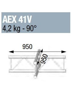 ASD - ANGLE 90° 4 DEPARTS A PLAT POUR ECHELLE VERTICALE 290 - AEX41V