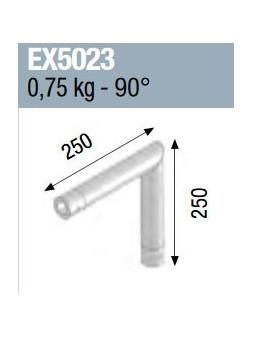 ASD - ANGLE 2D MONOTUBE 50X2 0m25 x 0m25 - EX5023