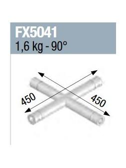 ASD - Angle 4 départs à plat 90° lg 0m45 x 0m45 - FX5041