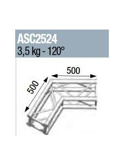 ASD - ANGLE 2D 120° SECTION 250 ALU CARRE - ASC2524