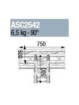 ASD - ANGLE 4D 90° SECTION 250 ALU CARRE - ASC2542