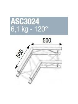 ASD - ANGLE ALU 290 CARRE 2 DEPARTS 120° - ASC3024