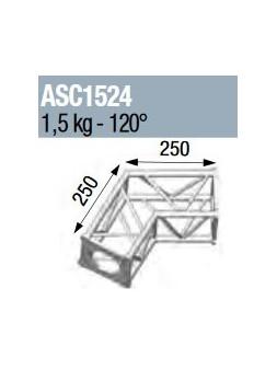 ASD - ANGLE 2D 120° SECTION 150 ALU CARRE - ASC1524