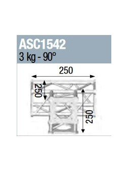 ASD - ANGLE 4D 90° SECTION 150 CARRE ALU - ASC1542