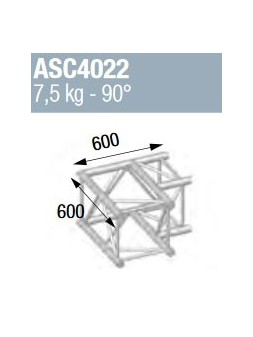 ASD - ANGLE ALU 390 CARREE 2 DEPARTS 90° - ASZ4022