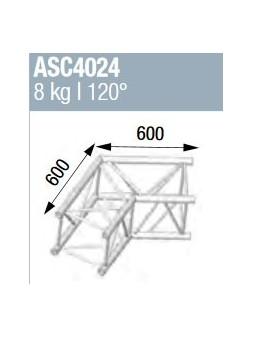 ASD - ANGLE ALU 390 CARREE 2 DEPARTS 120° - ASZ4024