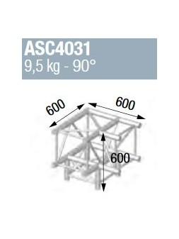 ASD - ANGLE ALU 390 CARREE 3 DEPARTS PIED 90° - ASZ4031