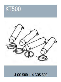 ASD - Kit de jonction pour structure SC 500 : 4 GO 500 + 4 GOS 500 - KC500