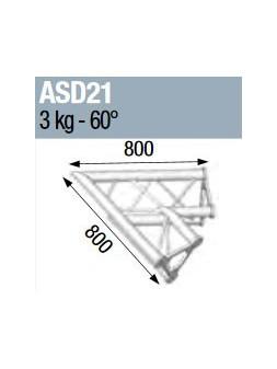 ASD - ANGLE ALU 250 TRIANGULAIRE 2 DEPARTS 60° - ASD21