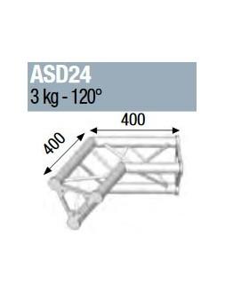 ASD - ANGLE ALU 250 TRIANGULAIRE 2 DEPARTS 120° - ASD24