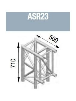 ASD - Angle 2 départs 90° vertical de 0m50 x 0m71 - ASR23