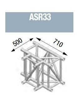 ASD - Angle 3 départs horizontal 90° lg de 0m50x0m71 - ASR33