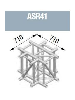 ASD - Angle 4 départs à plat 90° lg de 0m71x0m71 - ASR41