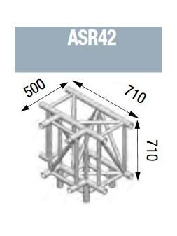 ASD - Angle 4 départs pied 90° lg de 0m71x0m71x0m50 - ASR42