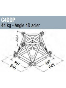 ASD - Angle 4D structure alu 500 triangulaire - C4DDP