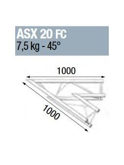 ASD - ANGLE ALU 290 2 DEPARTS 45° FORTE CHARGE - ASX20FC
