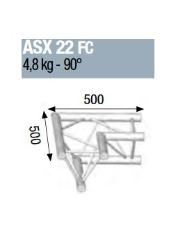 ASD - ANGLE ALU 290 2 DEPARTS 90° FORTE CHARGE - ASX22FC