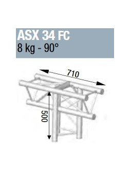 ASD - ANGLE ALU 290 3 DEPARTS 90° VERTICAL FORTE CHARGE - ASX34FC