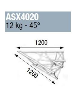 ASD - ANGLE ALU 390 2 DEPARTS 45° - ASX4020