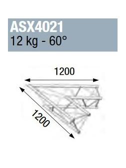 ASD - ANGLE ALU 390 2 DEPARTS 60° - ASX4021