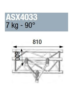 ASD - ANGLE ALU 390 3 DEPARTS A PLAT 90° - ASX4033