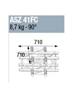 ASD - ANGLE ALU 290 CARREE 4 DEPARTS HORIZONTAL FORTE CHARGE - ASZ41FC