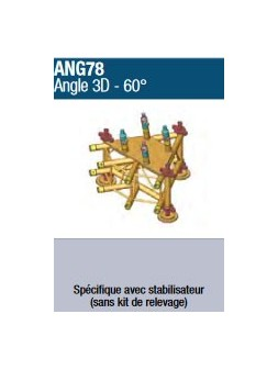 ASD - ANGLE 3 D 60° pour Structure 780 - ANG78