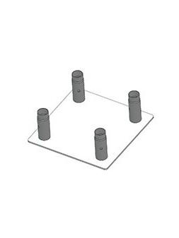 ASD - EMBASE ALU mâle pour SC 250, 350x350 mm. - EM259ATC