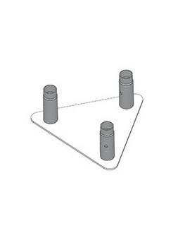 ASD - EMBASE ALU mâle pour SD 250, 360x360x360 mm - EM259ATS