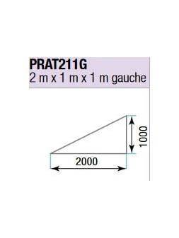 ASD - PRATICABLE TRIANGULAIRE 750 kg / m² de 2m x 1m x 1m. plancher extérieur GAUCHE - PRA-T211G