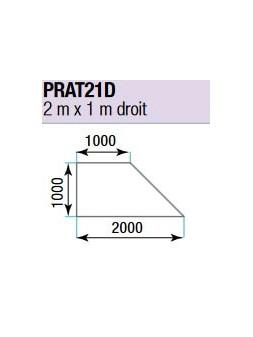 ASD - PRATICABLE TRIANGULAIRE 750 kg / m² de 2m x 1m. plancher extérieur DROIT - PRA-T21D