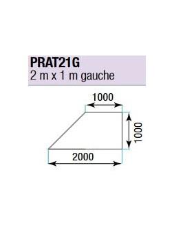 ASD - PRATICABLE TRIANGULAIRE 750 kg / m² de 2m x 1m. plancher extérieur GAUCHE - PRA-T21G