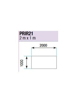 ASD - PRATICABLE RECT INDOOR 500 kg / m² de 2m x 1m. - PRI-R21