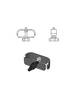 ASD - RACCORD pour 2 TUBES GARDE CORPS en angle 90° en ACIER finition EPOXY NOIR - FGARD90