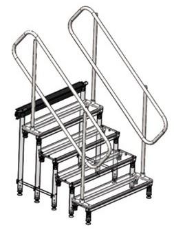 ASD - Mains courante Vendu à l'unité avec kit de fixation (pour praticable hauteur 1m) - MC100
