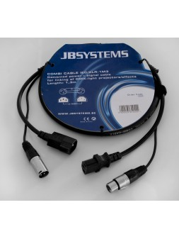 JB Systems - Combi Cable IEC/XLR 1M3