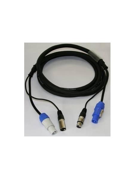 BRITEQ - POWERCON/XLR COMBI 3x1,5mm² CABLE 10M - 01266