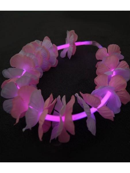 Collier fluorescent 22 pouces Fleurs